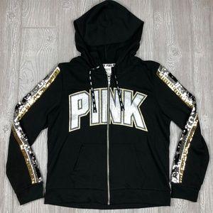 Victoria's Secret PINK Bling Sequined Hoodie Zip